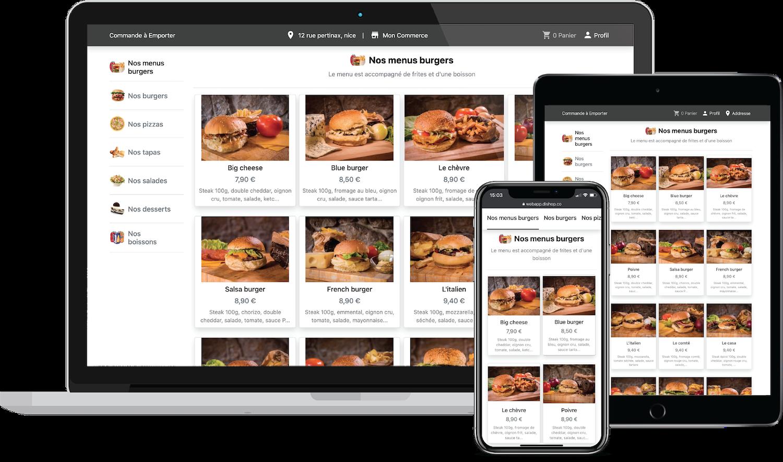 solution de commande en ligne pour restaurant